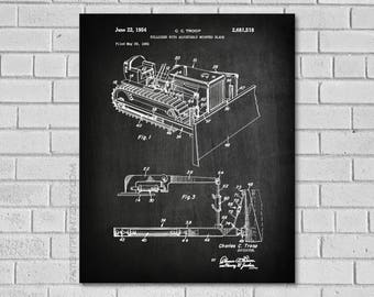 Bulldozer Patent - C C Troop Bulldozer Blueprint - Bulldozer Tractor Decor - Bulldozer Tractor Art - Construction Art - DozerPoster - CC518