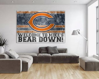 Chicago Bears | Custom Canvas Wall Art | Add Your Name! Part 77