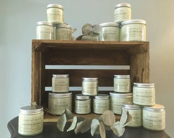 95ml glass Apothecary jar soy candle with lid