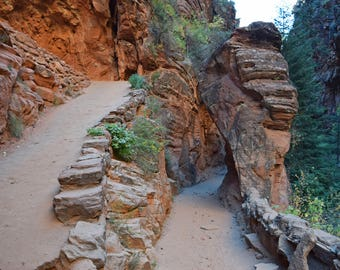 Take a hike.  Photograph. Trail to Angels Landing, Zion National Park, Utah.  Digital Download