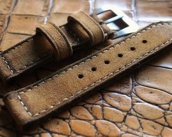 Leather strap  custom made for panerai
