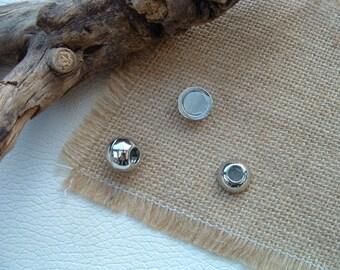 Metal Platinum 14X12mm ball magnetic clasp