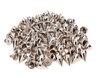 50 × Clous metalliques a cone pour décorer les chaussures, les vetements