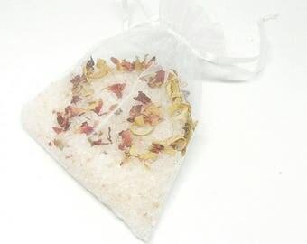 Rose & Lemon Bath Salts   Bath Soak with essential oils   Aromatherapy Gift   Natural Skincare   Vegan Beauty