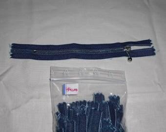 Zip up denim 14 cm