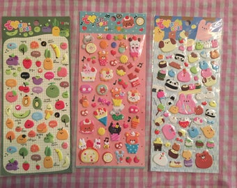 Lot of Kawaii puffy stickers