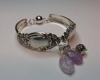 Silver Spoon Bracelet BALLAD/ROSES Pattern