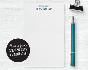 Personalized Notepad Set | From the Desk of Notepad Teacher | From the Desk of Stationery Notepad | Women Notepad Custom | PSNTP_0059