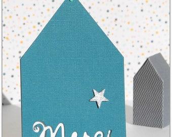 Cottage kraft thank you card