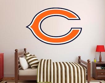 Delightful Chicago Bears Football Team Usa Major League Wall Decal   Football Teams  Sticker For Home Decor Part 13