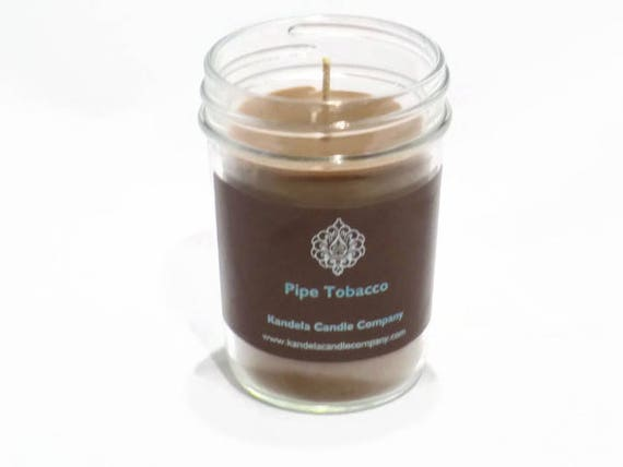 New! Pipe Tobacco Scented Candle in Jelly Jar