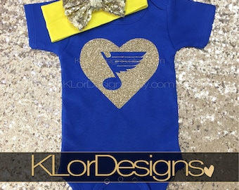 St. Louis Blues baby outfit, St. Louis Blues Newest Fan,  hockey baby shirt, STL baby, Blues hockey shirt, STL baby present