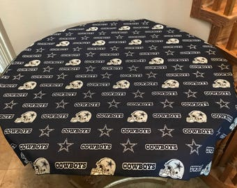 100% Cotton NFL Sports Team Dallas Cowboys Navy Tablecloth for Tailgating / NFL Sports Fans