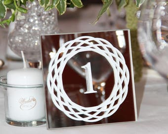 square mirror 6 to 10 table number table numbers