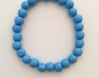 Light Blue Beaded Bracelet