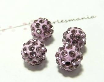 10 pearls 10mm lilac quality shambala