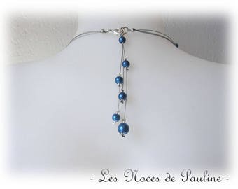 Blue back jewel dark three Pendants