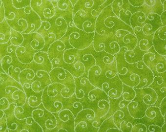 "Moda Basics ""MARBLE SWIRLS""  ~ 9908-44 Lime ~ Tonal Lime Green with Swirls ~ Half Yard Increments"