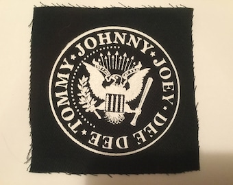 Ramones hand printed patch