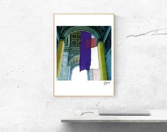 "A3 DIGITAL PRINT - ""Arc of Triumph"" graphic"