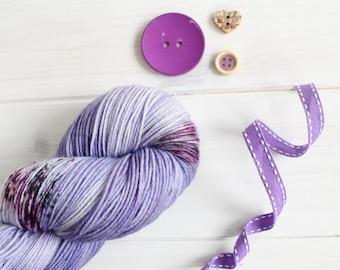 Espeon - Pokemon themed hand dyed yarn -  speckled sock yarn - fingering weight sock yarn