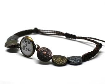Bracelet for best mother-beaded macrame-Christmas gift idea