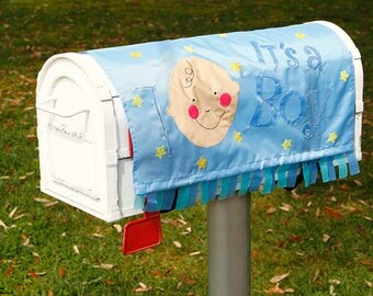 Announce the Arrival of Your Baby Boy With A Lovely Mailbox Cover