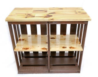 Crate Table Top and Shelf Unit