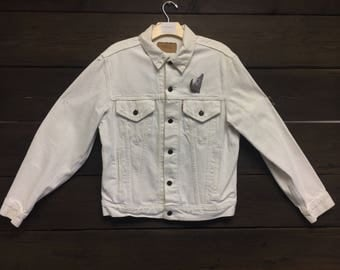 Vintage 90's Levis White Denim Jacket