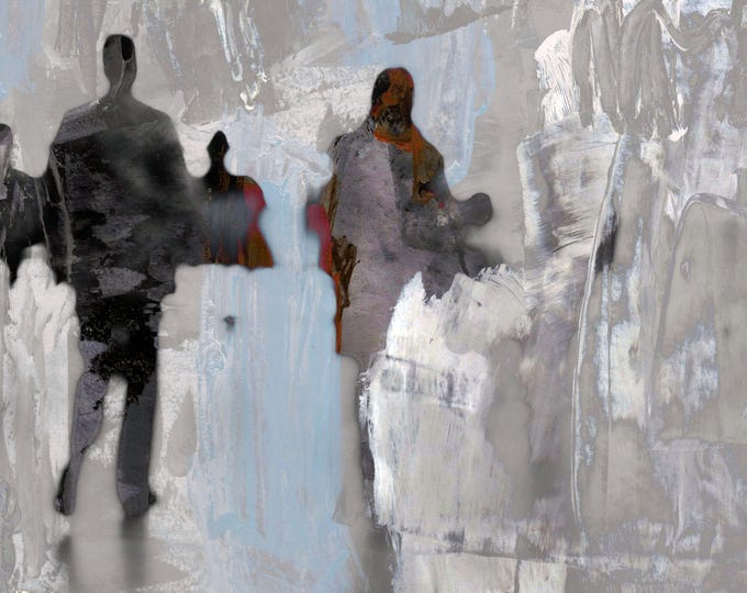 AIRPORT XVIII - Mixed Media Art by Sven Pfrommer - Artwork is ready to hang