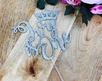 Personalised Is One Cake Topper Crown Cake Topper Cake Decoration Cake Decorating Personalised Cake Toppers 1st Birthday Cake Topper WTR