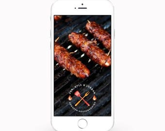 PERSONALIZED Snapchat BBQ Geofilter