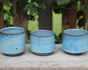 blue whiskey cups