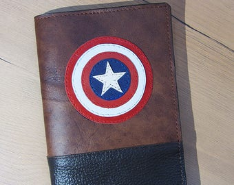 Captain America - Passport cover - Leather - Passport Holder