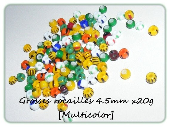 Bag of large seed beads 4.5 mm x20g [multicolor]