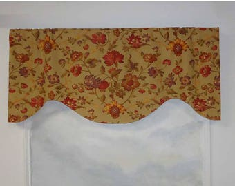 Portfolio Simple Floral Khaki Valance