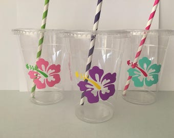 Hawaiian Luau Party Cups