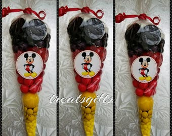 Mickey mouse birthday - mickey mouse party - mickey mouse candy cones - mickey mouse favors - mickey  mouse goodie bags - mickey mouse