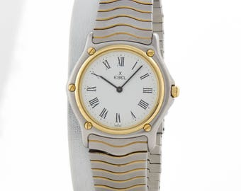 Classic Vintage Ebel Wave 18k Gold/Stainless Watch