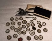 Antique Vintage Typewriter Keys Fountain Pen Nibs Lot Jewelry Steampunk Oddities Victorian