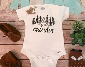 Funny Camping Onesie®, Adventure is Out There, Mountains are Calling, Baby Boy Clothes, Baby Shower Gift, Cute Onesies, Hipster Baby Clothes
