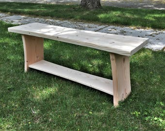 Rustic Pine Foyer Bench - (Unfinished)