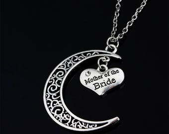Half Moon Necklace,Mermaid,Starfish,Turtle,Dolphin,Anchor, Beach Jewelry,Coastal Half moon Pendants,Cresent Moon,Mother of the Bride.Groom