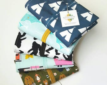 Travel diaper changing pad, diaper changing mat, travel changing pad, baby gift, camping changing pad, adventure baby, teepee, sasquatch