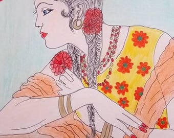 Spanish woman handmade