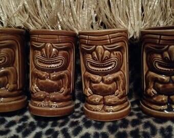 Set of 4 Orchids of Hawaii Tiki Mugs