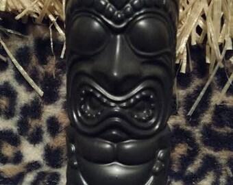 Black Matte Crouching Tiki Mug