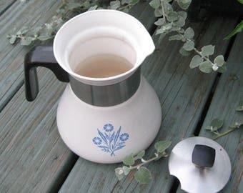 Corning Ware Blue Cornflower Tea Pot-1955