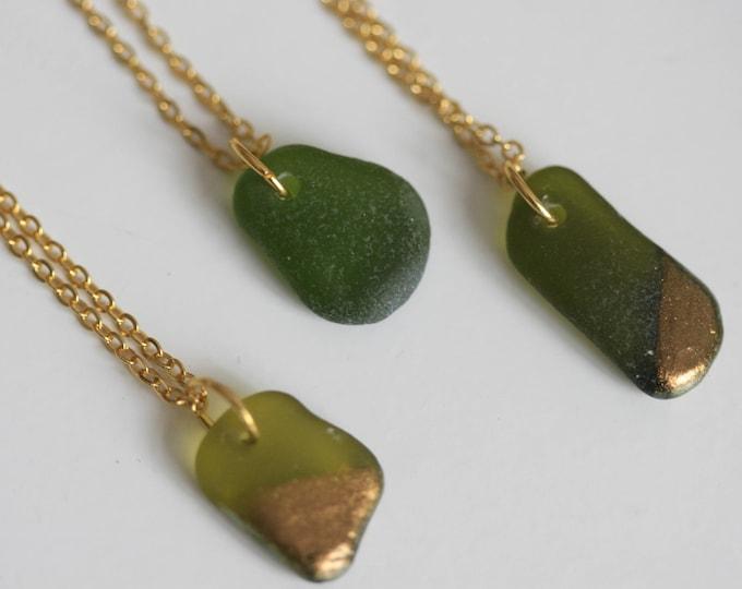 Irish Seaglass Necklace | Seaglass Jewellery  | Jewelry | Green Seaglass | Beachglass