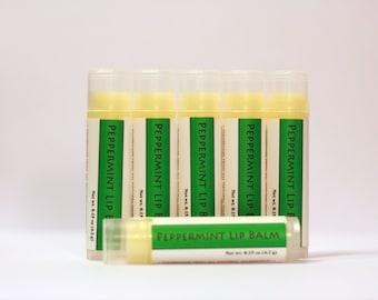 Peppermint Lip Balm, All Natural Lip Balm